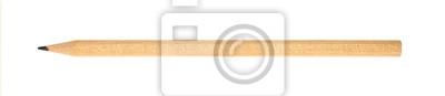 Fototapete Ein Graphit Bleistift close up isoliert auf weiß