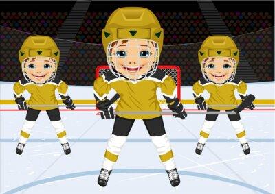 Fototapete Ein junges Eishockey-Team in Uniform