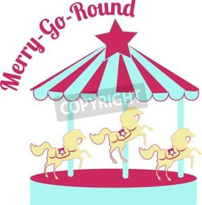 Ein Klassisches Karussell Mit Hübschen Pony Ist Eine Altehrwürdige