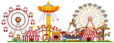 Ein Panorama der Spaßmesse