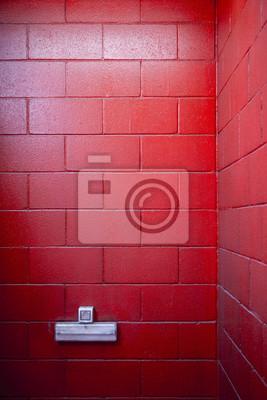 ein sehr rot bemalten mauer mit steckdose f r hintergr nde fototapete fototapeten innenr ume. Black Bedroom Furniture Sets. Home Design Ideas