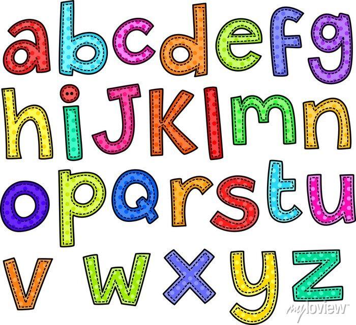 Fototapete Ein Stich Stil doodle Set von Hand gezeichnet Buchstaben des Alphabets.