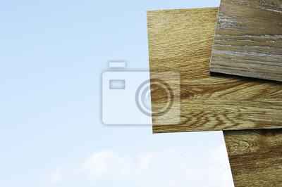 Ein Studiofoto Von Laminat Vinyl Bodenbelag Auf Holzuntergrund