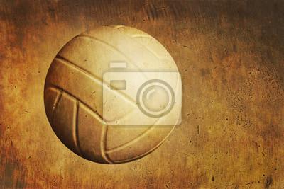 Ein Volleyball auf einem Grunge strukturierten Hintergrund