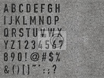 Einbau Buchstaben in Beton und zusätzliche Formplatte