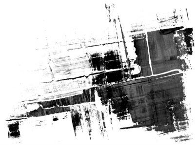 Fototapete Eine abstrakte Farbe Splatter Frame in schwarz und weiß