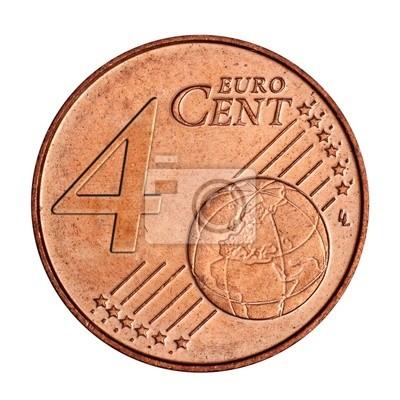 Eine Collage Von 4 Euro Cent Münze Fototapete Fototapeten