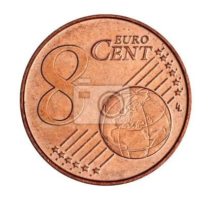 Eine Collage Von 8 Euro Cent Münze Fototapete Fototapeten