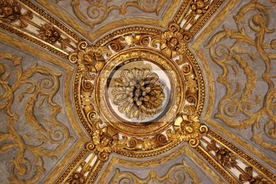 Eine Decke Dekoration im Palazzo Madama in Turin, Italien