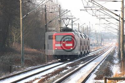 Eine deutsche Lokomotive im Winter
