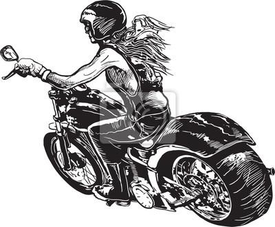 Motorrad frau mit 2malweg: Als