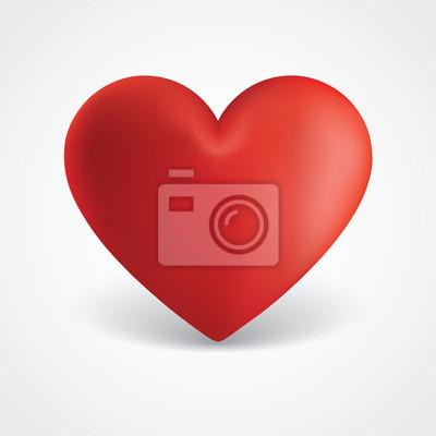 Eine Große Rote Valentinsgruß-Herz-Abbildung
