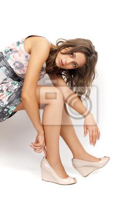 Eine junge und attraktive Frau