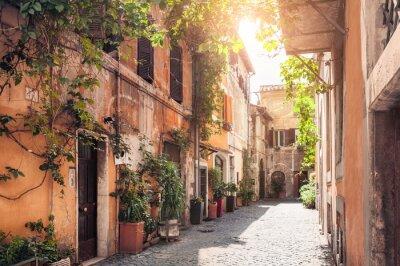 Fototapete Eine malerische Straße in Rom, Italien