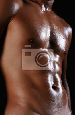 Eine nackte junge asiatische männlichen Körper mit gut getönten Muskeln
