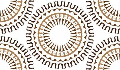 Fototapete Eine nahtlose Hintergrund von kreisförmigen Mustern. Nahtlose Muster von Formen Farbe. Ein sternförmiges Muster.