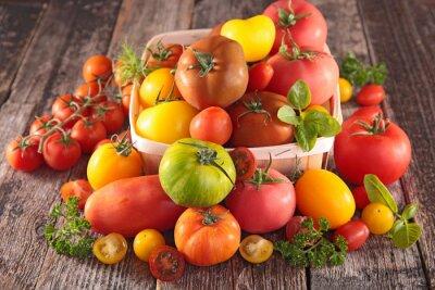 Fototapete Eine Vielzahl von Tomaten