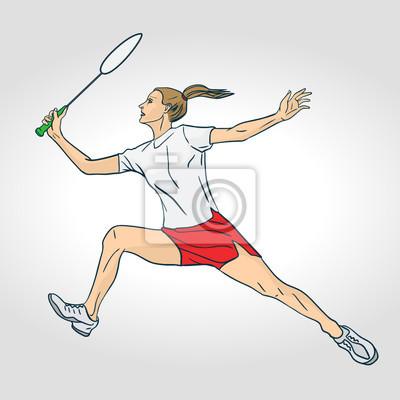 Eine weibliche Berufsbadminton-Spieler