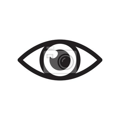 Fototapete Einfache Augen Symbol Vektor. Sehvermögen Piktogramm im flachen Stil.