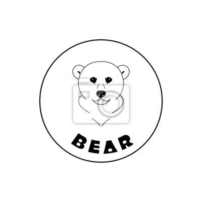 Einfache bärengesichtmaskottchen-emblem-symbole. kann für t-shirts ...