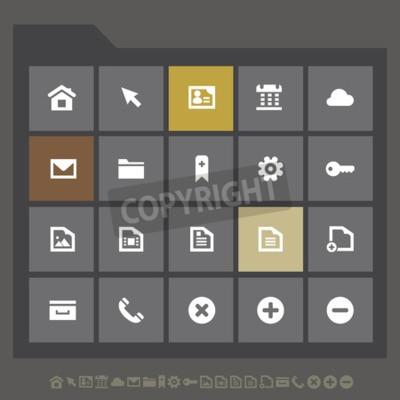 Einfache dünne minimalistische Web-Icons-Kollektion, flache Design dunkelgraue Serie