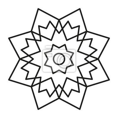 Einfache mandala-form zum ausmalen fototapete • fototapeten iranian ...