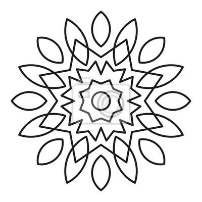 Einfache Mandala Form Zum Ausmalen Vektor Mandala Blumen Blume