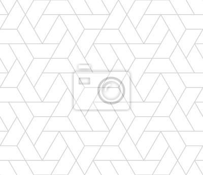 Fototapete einfache nahtlose geometrische Gitter Vektor-Muster