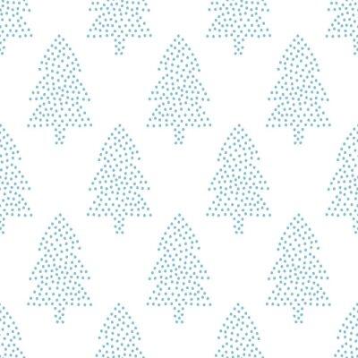 Fototapete Einfache nahtlose Weihnachten Muster - Weihnachtsbäume auf weißem Hintergrund. Happy New Year Hintergrund. Vector Winterurlaub Design für Textilien, Tapeten, Stoff, Tapeten.