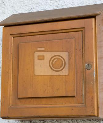 Einfacher Briefkasten Aus Holz Fototapete Fototapeten Briefträger