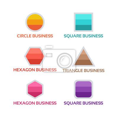 Einfacher platz, kreis, sechseck, dreieck logo form vorlage ...