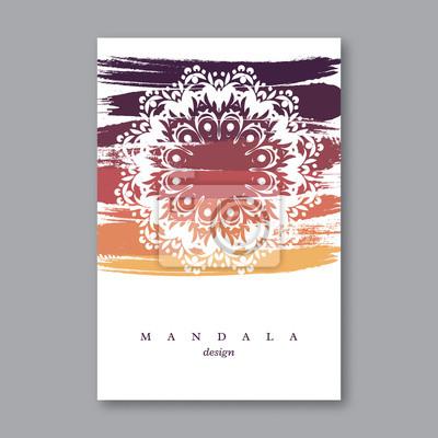 Einladung Hochzeitskarte Vorlage Mit Hand Gezeichnet Mandala