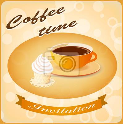 Einladung Mit Kaffee Und Kuchen Fototapete Fototapeten Kuche