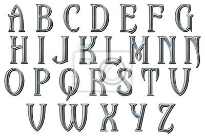 Fototapete Einmal nach einem Traum Alphabet Sammlung