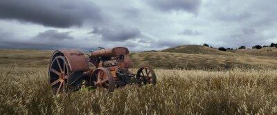 Fototapete Einsame Traktor