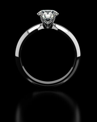 Fototapete Einzel-Diamant-Ring