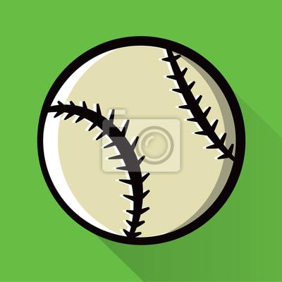 Einzelne Baseball-Symbol Illustration
