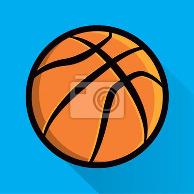 Einzelne Basketball-Symbol Illustration