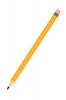 Fototapete Einzelne Bleistift-Symbol