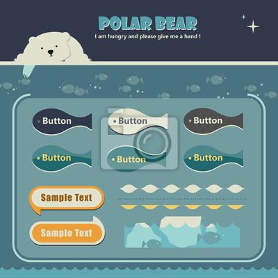 Eisbär homepage-vorlage fototapete • fototapeten Web-Seite, Eisbär ...