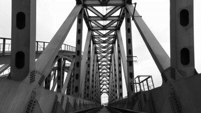 Fototapete Eisenbahnbrücke