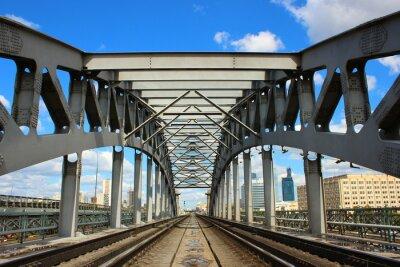 Fototapete Eisenbahnbrücke in Moskau