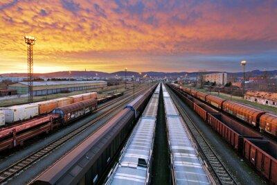 Fototapete Eisenbahngüterverkehr