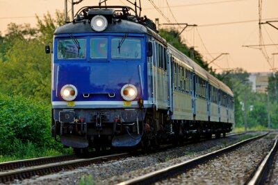 Fototapete Eisenbahnverkehr
