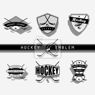 Eishockey-Emblem - einfarbig