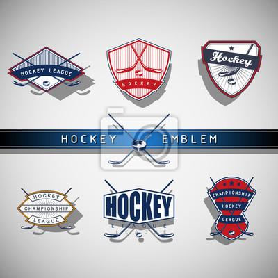 Eishockey-Emblem - Farbe