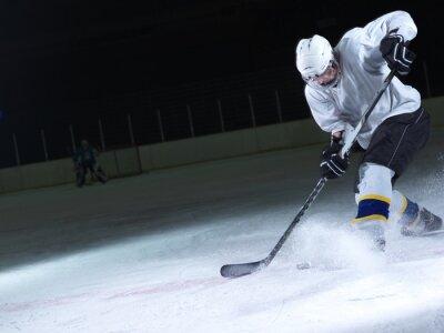 Fototapete Eishockey-Spieler in Aktion