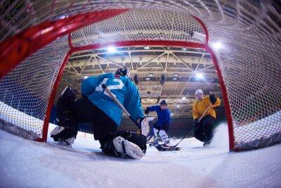 Fototapete Eishockey-Torwart