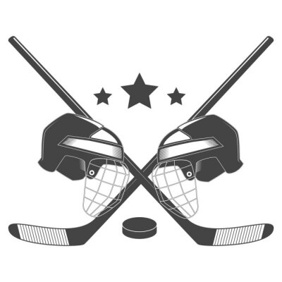 Fototapete Eishockey-Wettbewerb chempionship Vektor-Logo