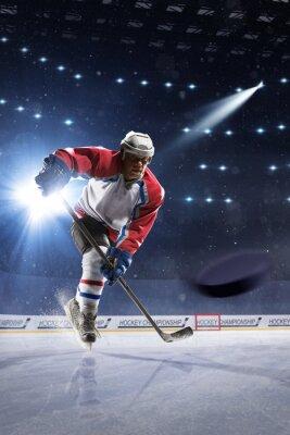 Fototapete Eishockeyspieler auf der Eisarena